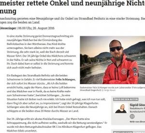 Lifesaver Felix Schlangen wurde zum Lebensretter